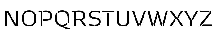Kobenhavn Stencil Regular Font UPPERCASE