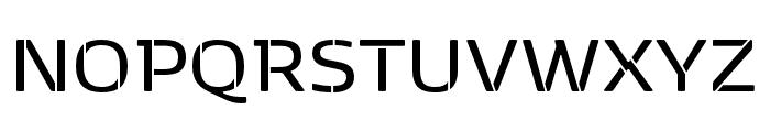 Kobenhavn Stencil SemiBold Font UPPERCASE