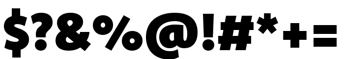 Komet Black SC Font OTHER CHARS
