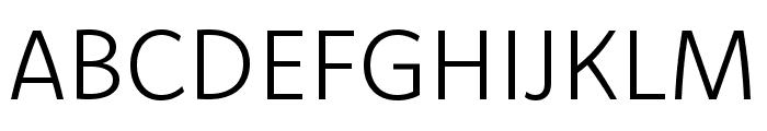 Komet Light SC Font UPPERCASE