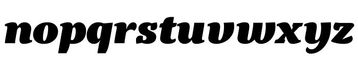 Kopius Black Italic Font LOWERCASE