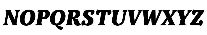 Kopius Extrabold Italic Font UPPERCASE