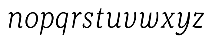 Kopius Light Italic Font LOWERCASE