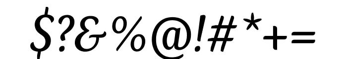 Kopius Regular Italic Font OTHER CHARS