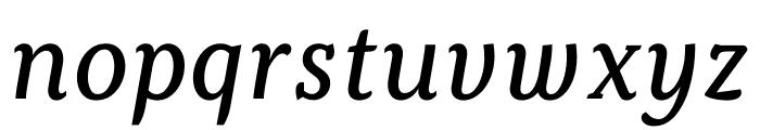 Kopius Regular Italic Font LOWERCASE