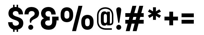Korolev Compressed Bold Font OTHER CHARS