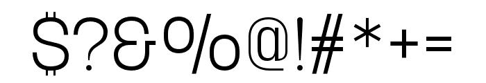 Korolev Compressed Light Font OTHER CHARS