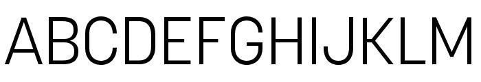 Korolev Compressed Light Font UPPERCASE