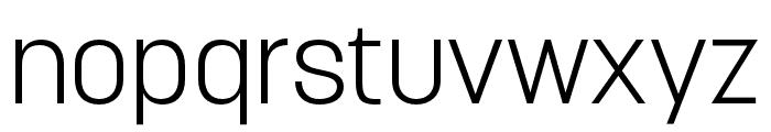 Korolev Compressed Light Font LOWERCASE