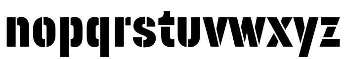 Korolev Military Stencil Regular Font LOWERCASE
