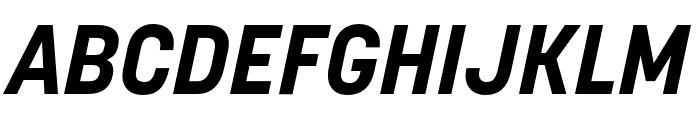 Korolev Rounded Bold Italic Font UPPERCASE