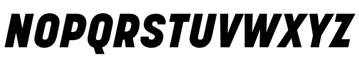 Korolev Rounded Heavy Italic Font UPPERCASE