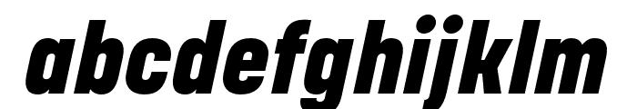 Korolev Rounded Heavy Italic Font LOWERCASE