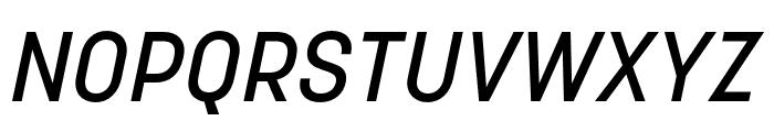 Korolev Rounded Medium Italic Font UPPERCASE