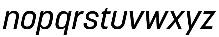 Korolev Rounded Medium Italic Font LOWERCASE