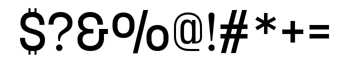 Korolev Rounded Medium Font OTHER CHARS