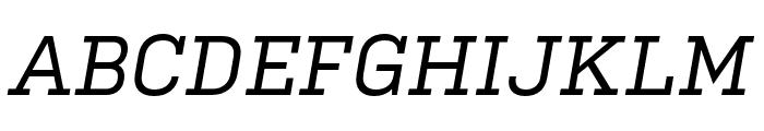 Kulturista Medium Italic Font UPPERCASE