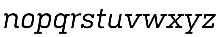 Kulturista Medium Italic Font LOWERCASE