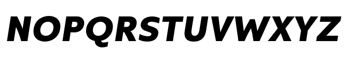 Kyrial Sans Pro Black Italic Font UPPERCASE