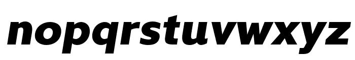 Kyrial Sans Pro Black Italic Font LOWERCASE