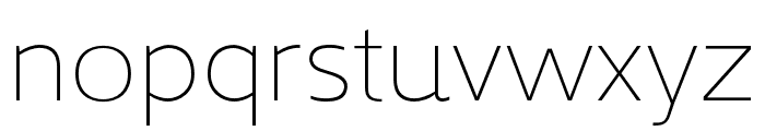 Kyrial Sans Pro Cond Ultra Light Font LOWERCASE