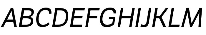 LFT Etica Compressed Italic Font UPPERCASE