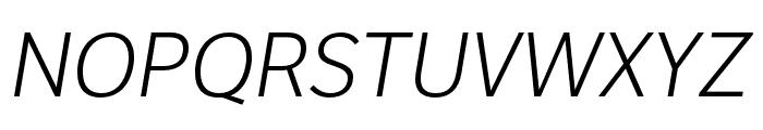 LFT Etica Compressed Light Italic Font UPPERCASE