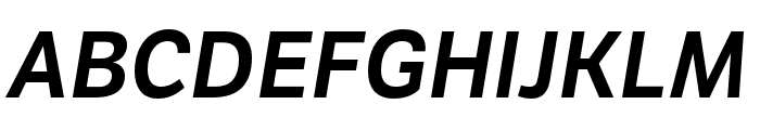 LFT Etica Compressed SemiBold Italic Font UPPERCASE