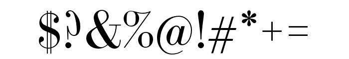 LTC Bodoni 175 Pro Regular Font OTHER CHARS
