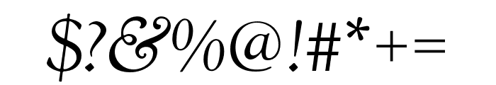 LTC Goudy Oldstyle Pro Italic Font OTHER CHARS