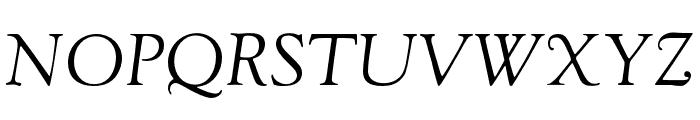 LTC Goudy Oldstyle Pro Italic Font UPPERCASE