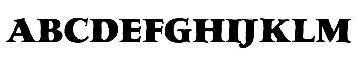 LTC Hess Monoblack Regular Font UPPERCASE