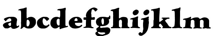 LTC Hess Monoblack Regular Font LOWERCASE