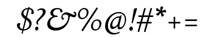LTC Italian Old Style Pro Italic Font OTHER CHARS