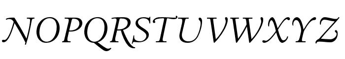 LTC Italian Old Style Pro Light Italic Font UPPERCASE