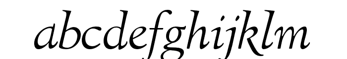 LTC Italian Old Style Pro Light Italic Font LOWERCASE