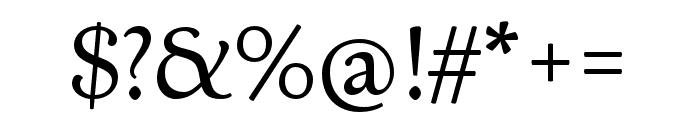LTC Italian Old Style Pro Regular Font OTHER CHARS