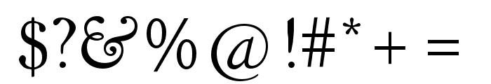 LTC Kennerley Pro Regular Font OTHER CHARS