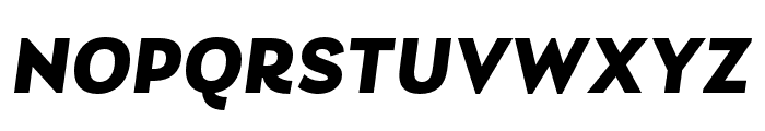 Laca Black Italic Font UPPERCASE