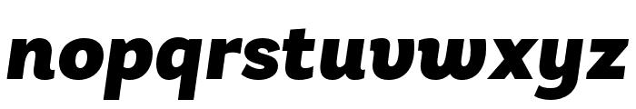 Laca Black Italic Font LOWERCASE