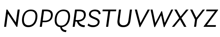 Laca Book Italic Font UPPERCASE