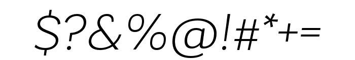 Laca Light Italic Font OTHER CHARS