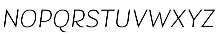 Laca Light Italic Font UPPERCASE