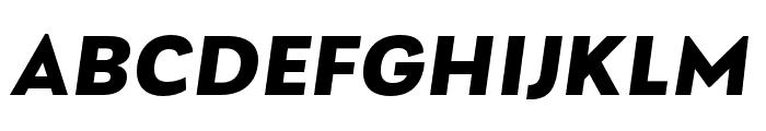 Laca Text ExtraBold Italic Font UPPERCASE