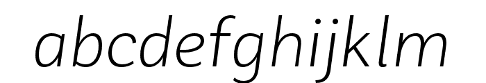 Laca Text Light Italic Font LOWERCASE