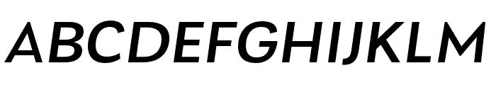 Laca Text Medium Italic Font UPPERCASE