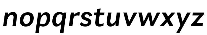 Laca Text Medium Italic Font LOWERCASE