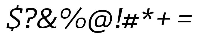 Laski Slab Regular Italic Font OTHER CHARS