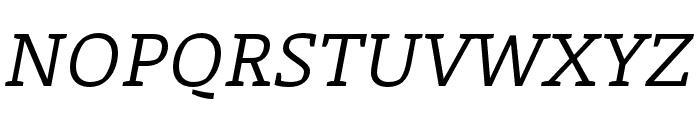 Laski Slab Regular Italic Font UPPERCASE