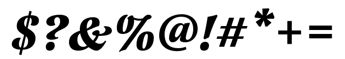 Latienne Pro Bold Italic Font OTHER CHARS